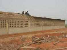 Das Dach wird gedeckt