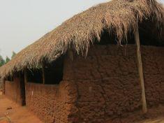 Termiten zerstören Schulgebäude Agbandjouyn
